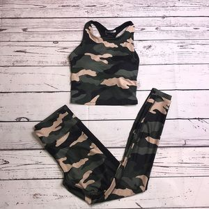 FOREVER 21 Camo Workout set